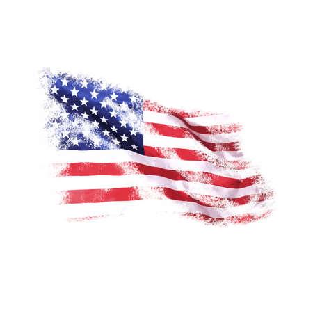 USA vlag in grunge stijl op een witte achtergrond