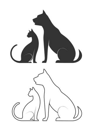 commercial sign: silhouettes of domestic animals