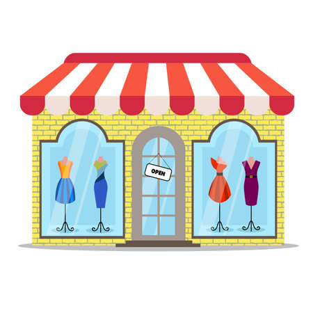 colored clothing store icon 向量圖像