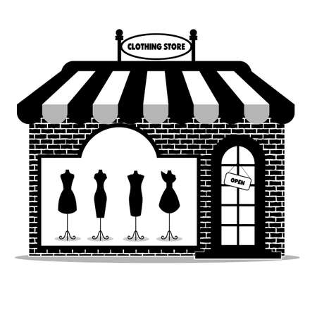 shadow people: clothing store icon