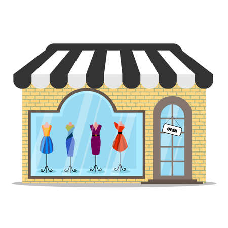 shadow people: colored clothing store icon Illustration