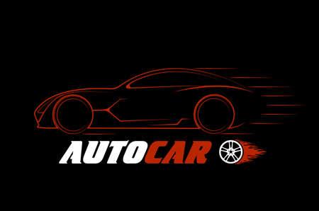topics: dynamic silhouette of the car,  automotive topics Illustration