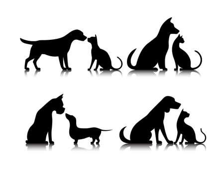 icon dog and cat Zdjęcie Seryjne - 60579358
