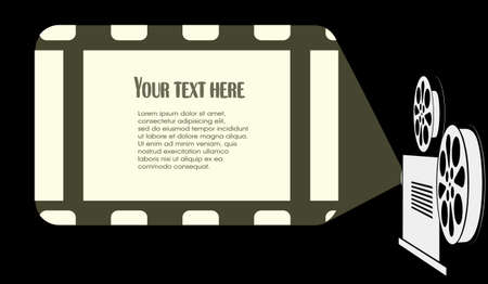 backlit: screen is in the cinema Illustration