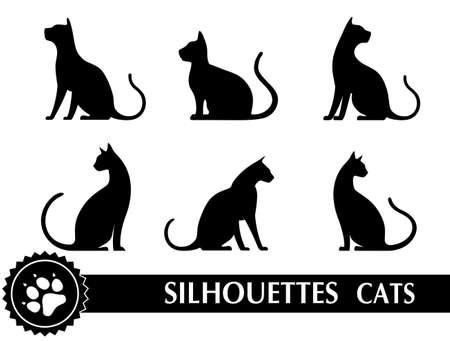 silueta de gato: silueta de gato