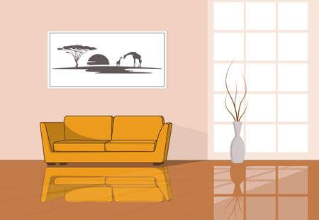 modern interior: interior of the modern room