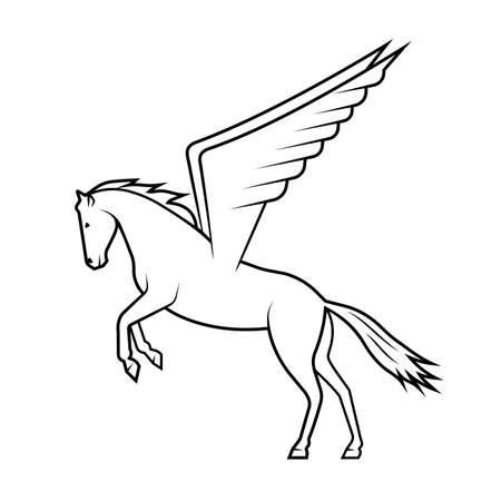 mythical horse Pegasus on a white background
