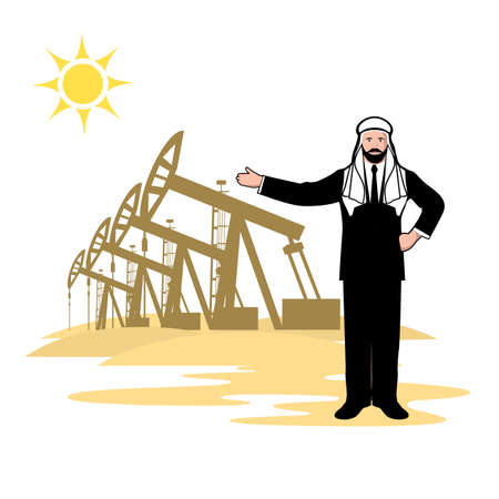 sheik: Arab sheikh representing oil production
