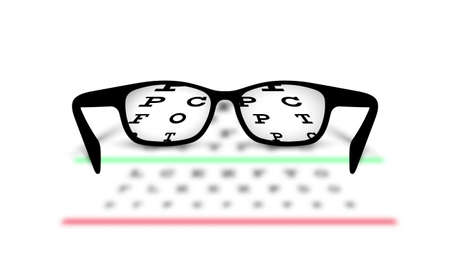 optometry: Optometry medical background glasses with blurred background Illustration