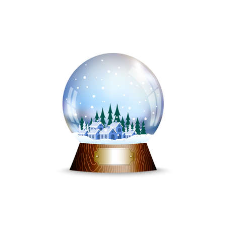 christal: Christmas toy a sphere with the snow