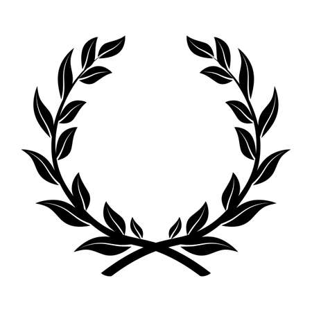 On the image presented laurel wreath