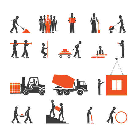 construction industry icons Illustration