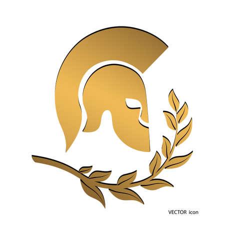 icon gold symbol Spartan soldier
