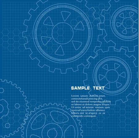 dibujo tecnico: The technical drawing Vectores