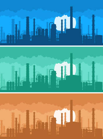 greenhouse effect: industrial background concept of environmental pollution