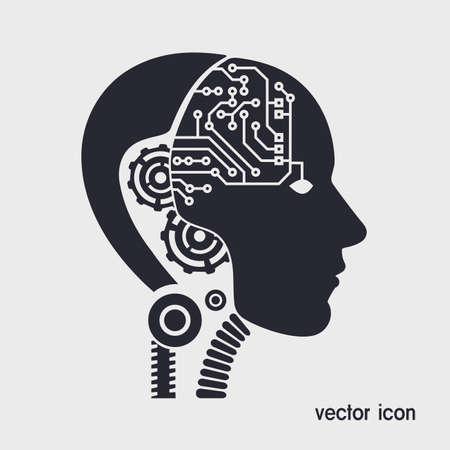 mechanism: icon robot cybernetic organism Illustration