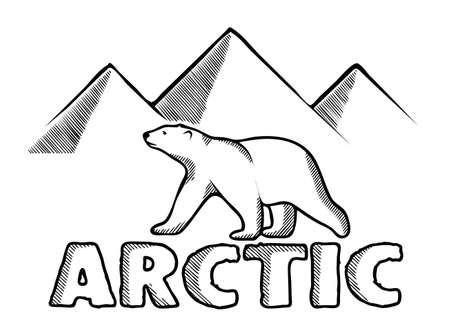 Polaire symbole de l'ours de l'Arctique Banque d'images - 67025233