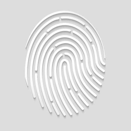 dactylogram: fingerprint scan