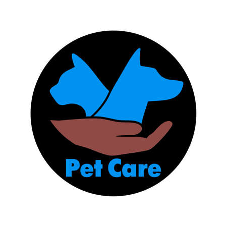 care symbol: Logo care of animals, symbol of protection of vagrant animals.
