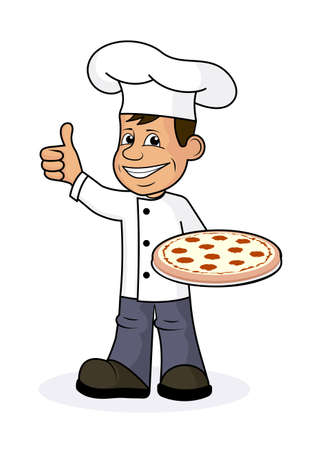 Icon cheerful cook.