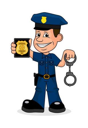 ilustración vectorial oficial de policía Alegre.