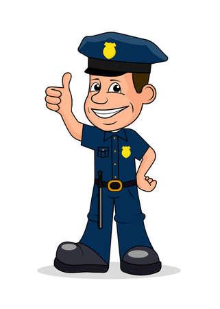 Fröhlich Polizist Vektor-Illustration.