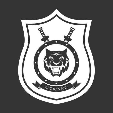 Military symbol, legionarys badge.