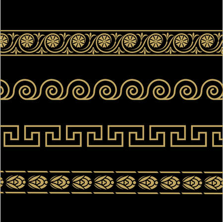 Greek ornament. Patterns in antique style.