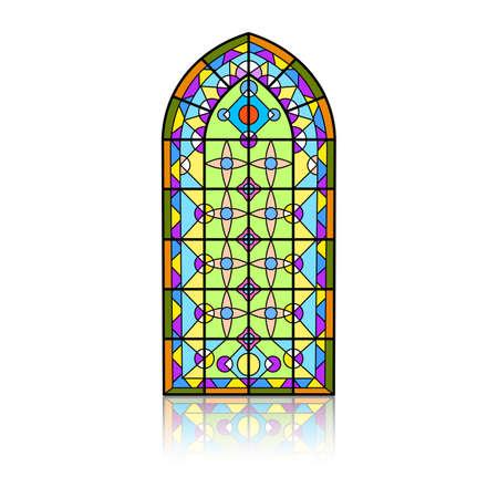 Gothic windows. Vintage frames. Church stained-glass windows 矢量图像