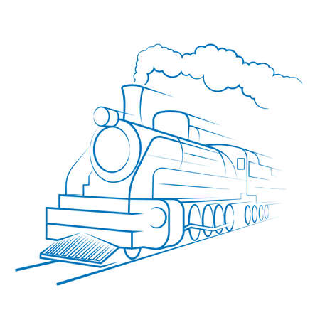 Old engine an icon on a white background. Vector Illustration