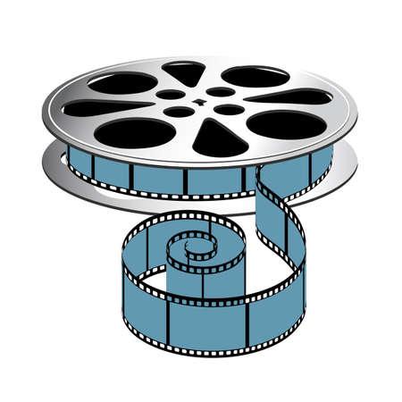 Film coil on a white background. Illustration