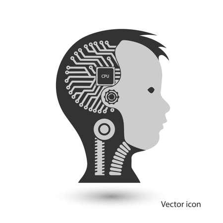 icon robot cybernetic organism Illustration