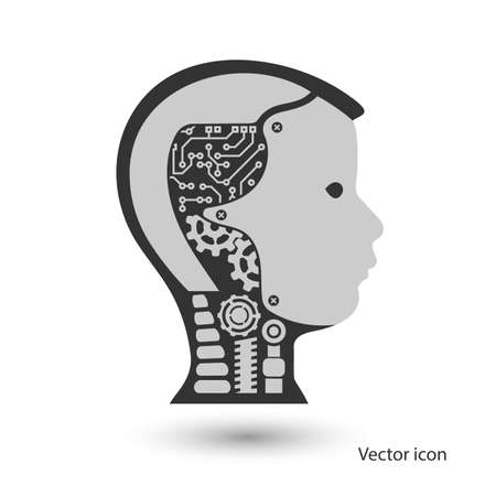 icon robot cybernetic organism Illustration