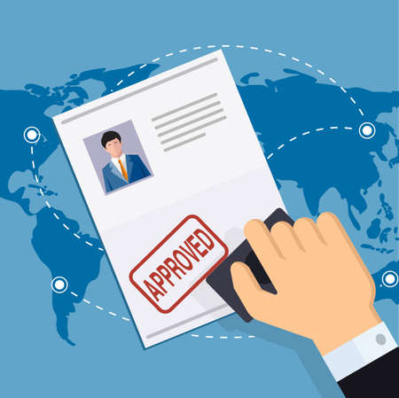 Print Approved document a vector illustration.