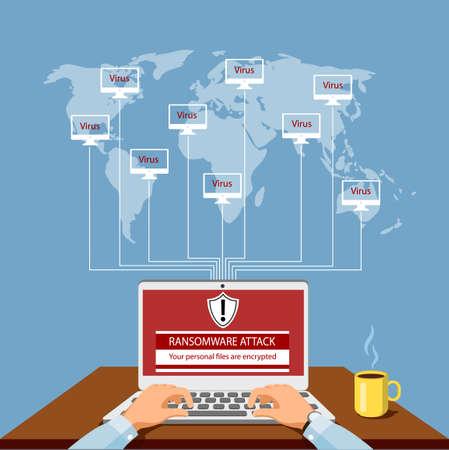 Virus attack vector illustration. Illustration