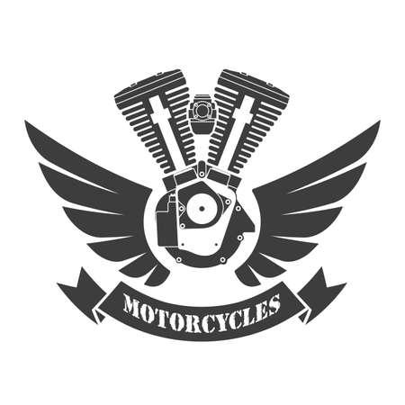 Custom motor sport symbol, vector illustration.