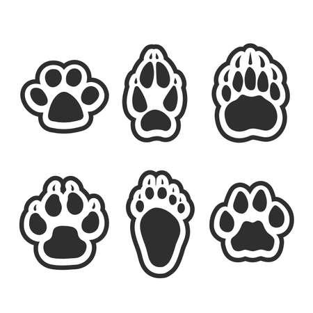 Impression de pattes d'animaux.