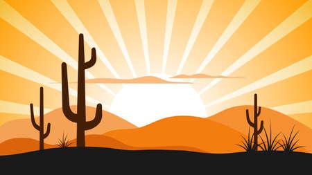 Mexican landscape vector illustration. Illustration