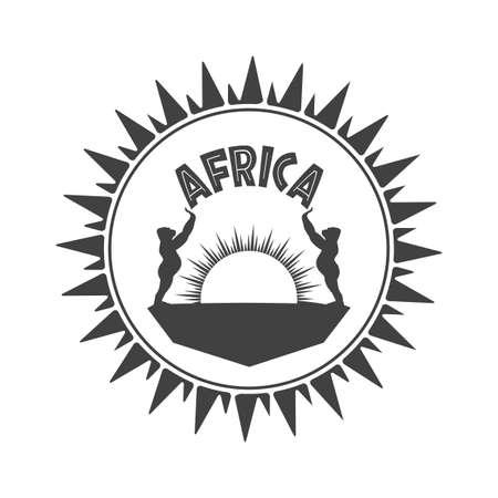 Símbolo monocromático de África. Vectores