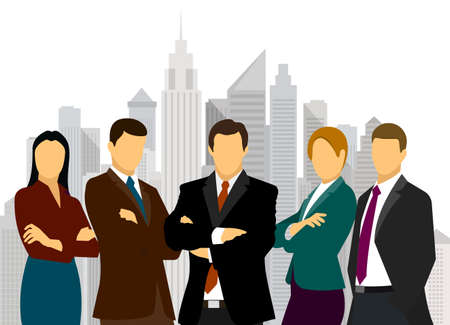 Illustration of group of people in business attire. Illustration