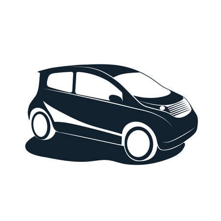 Silhouette of car vector illustration.
