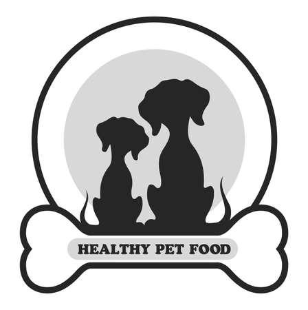 label for dog food vector illustration.