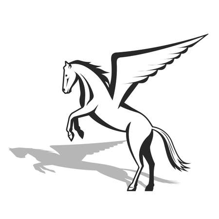 Pegasus a mythological being a horse with wings a vector illustration.