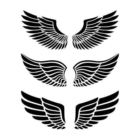 Wings for heraldry, tattoos, logos. 일러스트