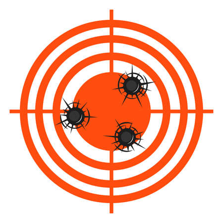 accurate hits in a target vector illustration.