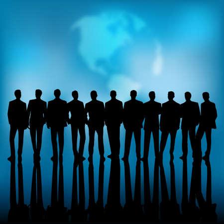 Group of business people represents the concept of teamwork. Ilustração