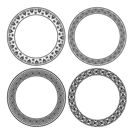Set of a frames in the Greek style. Illustration
