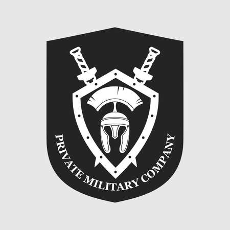 Label of the private military company. Vectores