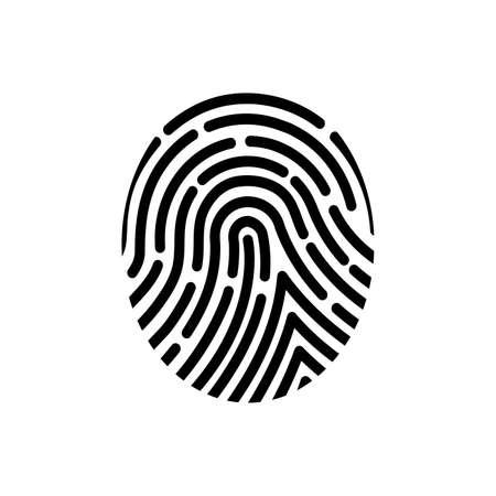 Fingerprint of the person image illustration