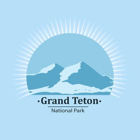 National park symbol. Vector icon. Ilustração